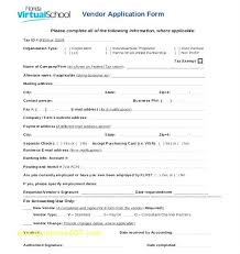 Template Event Vendor Form Template Application Top Result Awesome