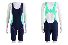 Us 25 0 Bodysuits New Sports One Piece Swimsuit Swimming Tight Women Long Leg Boyshorts Athletic Swimwear In Body Suits From Sports Entertainment