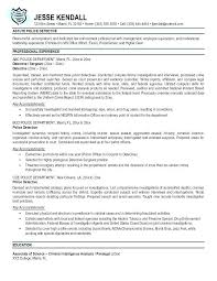 Law Enforcement Objective Law Enforcement Resume Resume Awesome