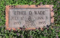 Ethel Daisy Sanford Wade (1893-1955) - Find A Grave Memorial