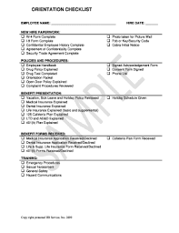 Orientation Form Fill Online Printable Fillable Blank