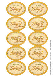 "Ode To The Honey Bee"" Honey Jar Labels 