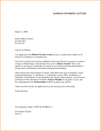 Cover Letter Job Vacancy Cover Letter Example