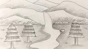 Cách Vẽ Tranh Phong Cảnh Thác Nước Bằng Bút Chì | how to draw waterfall  with pencil mới nhất 2021 - Vẽ.vn