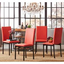 red upholstered dining chairs. Darcy Metal Upholstered Dining Chair (Set Of 4) By INSPIRE Q Bold - Free Shipping Today Overstock 15123254 Red Chairs