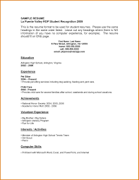 First Resume Template First Resume Template No Experience Gentileforda 8