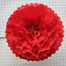 Making Flower Using Crepe Paper Crepe Paper Flowers Using Streamers And A Ruffler Foot Tutorial
