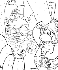 Small Picture Printable Club Penguin Coloring Pages Coloring Me