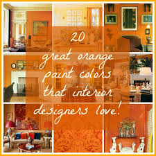 orange wall paint20 Great Shades of Orange Wall Paint and Coral Apricot