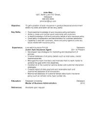 Cover Letter Insurance Resume Life Insurance Resume Auto