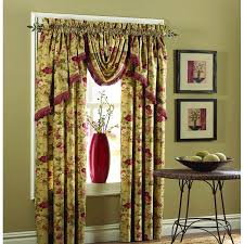fancy pleat curtain with attached valance