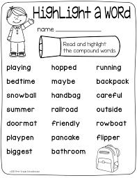 Compound Words Word Work | Word work, Language arts and Language