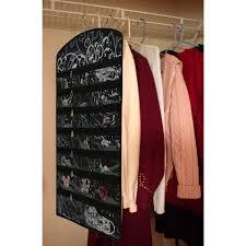 black fl 40 zipper pockets dual sides space jewelry organizer