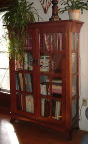 bookcases with doors on bottom. Custom Made Mission Bookshelf With Glass Doors Bookcases On Bottom