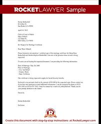 Resume Responsibilities Marriage Certificate Sample Letter Resume