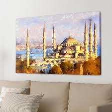 homelandscape blue mosque canvas large art