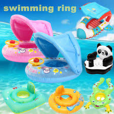 pool water with float. Sunshade Baby Kids Float Seat Boat Inflatable Swim Swimming Ring Pool Water Fun With W