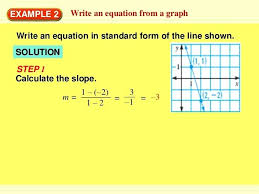 write the equation in standard form 7 example 2 write an equation write each equation in write the equation in standard form