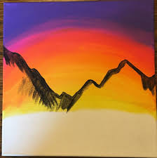 picture of outline your mountains
