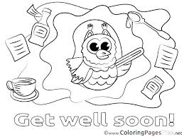 Feel Better Coloring Pages Get Well Soon Coloring Sheets Feel Better