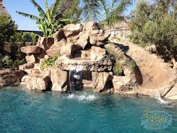inground pools with rock waterfalls. Rock Pool Slides For Inground Pools Waterfalls Glendora Ontario With