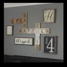 scrabble family names wall art
