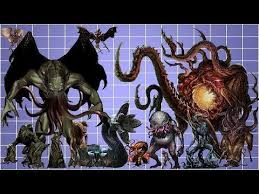 Cthulhu Size Comparison Chart Call Of Cthulhu Monsters Size Comparison Youtube In 2019