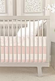oilo blush band crib skirt – curated nest inc