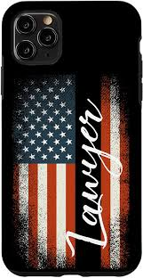 Amazon.com: iPhone XS Max Lawyer American USA Flag Law School Patriotic  Gift Case