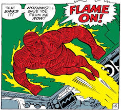 johnny storm the human torch from the fantastic four