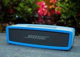 bose speakers bluetooth. the speaker in its optional $25 protective sleeve, which is available a few different colors. sarah tew/cnet bose speakers bluetooth