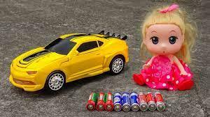 Búp bê vui đùa cùng xe ô tô điều khiển từ xa BIẾN HÌNH đẹp mắt H1029A Nữ  hoàng cận - YouTube