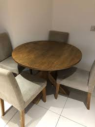 next furniture hartford round dining table and four chairs