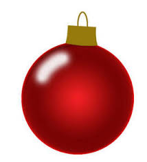 Free Christmas Clipart Picture of a Shiny Red Christmas Tree Ornament