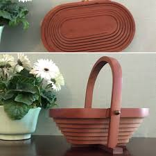 folding wood basket trivet vintage handmade basket wooden collapsible basket wood trivet storage basket centerpiece unique gift idea