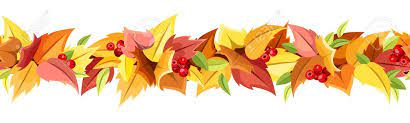 Horizontal Arrière-plan Transparent Avec Des Feuilles D'automne Vector  Illustration Clip Art Libres De Droits , Vecteurs Et Illustration. Image  22773278.