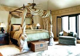 Stunning Bamboo Canopy Faux Bed Black Frame Fascinating Beds And ...