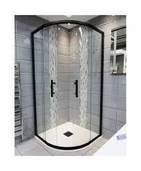 shower enclosures. Delighful Enclosures 1200mm X 900mm Double Sliding Door Black Offset Quadrant Shower Enclosure  And Tray Includes Free Waste Intended Enclosures
