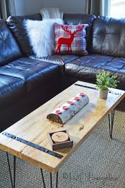 diy rustic coffee table tutorial