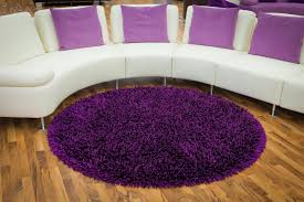 round rug purple