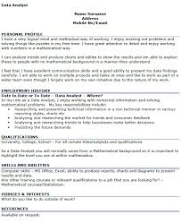 Business Analysis Templates Uk Data Analyst Cv Example 2018 Cv