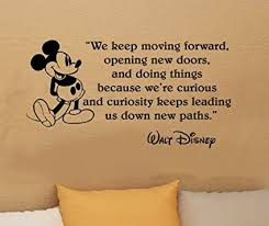 Walt Disney Mickey Mouse We Keep Moving Forward Wall Quote Vinyl Custom Moving Quote