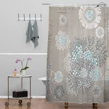 Lush Decor Lake Como Curtains Blue And Gray Shower Curtain Images