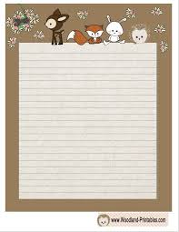 printable cute woodland animals writing paper printable   printable cute woodland animals writing paper