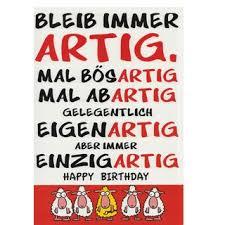 A4 Xxl Geburtstagskarte Mit Spruch Bleib Immer Artig