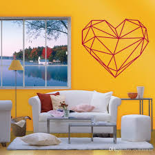 Small Picture Pvc Geometric Heart Wall Stickers Removable Art Wall Decals Home