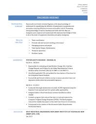 Chic Process Safety Engineer Resume For Best Engineering Resume