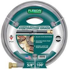 flexon garden hose. Flexon FLXCG58100 5/8in X 100ft Contractor Garden Hose F