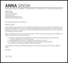 Program Specialist Cover Letter Sample Cover Letter