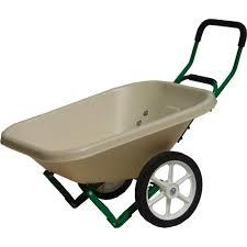 beige loadumper wheelbarrow
